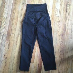 Loft black cropped maternity pants